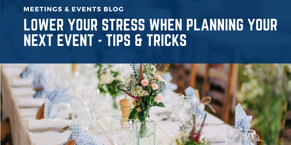 Lower your stress event planning