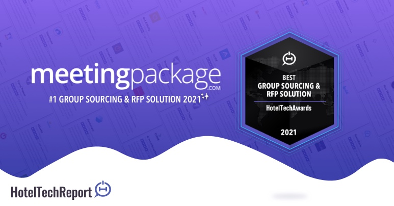 MeetingPackage ranked #1 in HotelTechAwards 2021