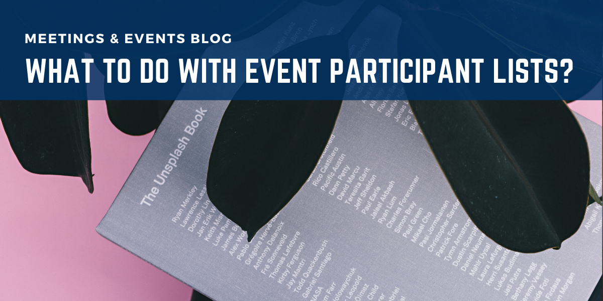 What To Do With Event Participant Lists?